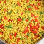 Saute fiesta corn in a skillet