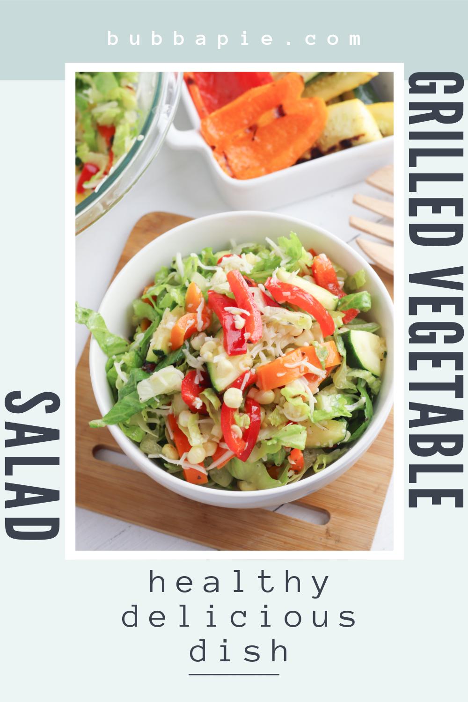 Grilled Vegetable Salad Pin 1