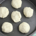form into balls and put into baking pan.