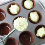 Scoop muffin batter into baking tray