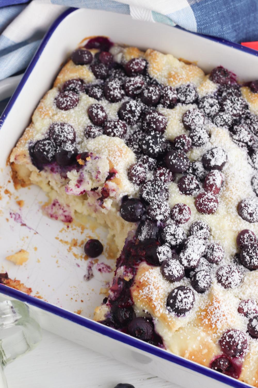 Breakfast Casserole with Blueberries